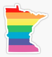 rainbow minnesota Sticker