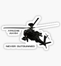 Apache Helicopter Sticker