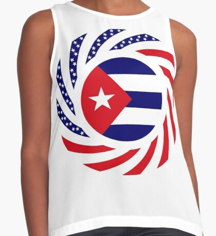 Cuban American Multinational Patriot Flag Series Sleeveless Top