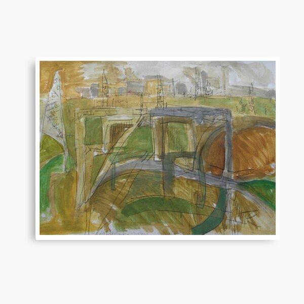 leeds motorway Canvas Print
