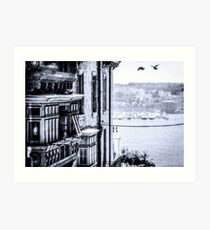Valletta Street from the air Art Print
