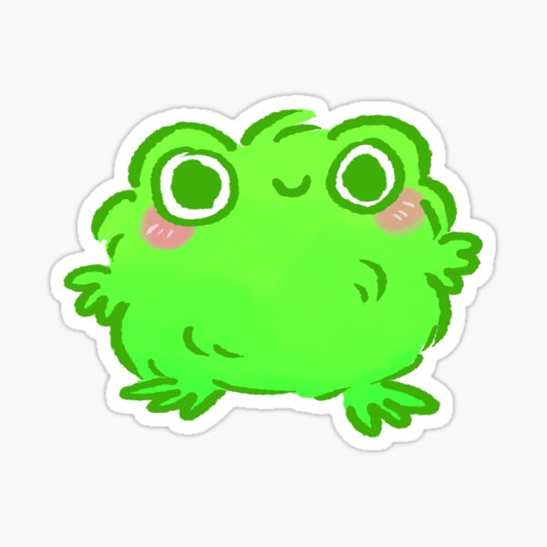 Francis the Fluffy Frog Sticker