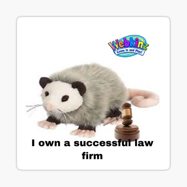 Webkinz possum law firm Sticker