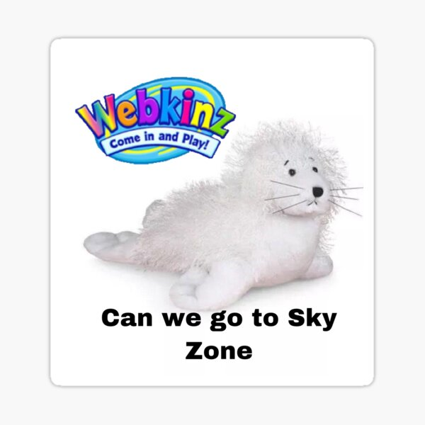 Webkinz seal puppy sky zone meme Sticker