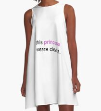 Soccer Saying- this princess wears cleats A-Line Dress