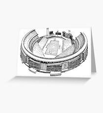 Shea Stadium - New York Jets/Mets Stadium Sketch Greeting Card