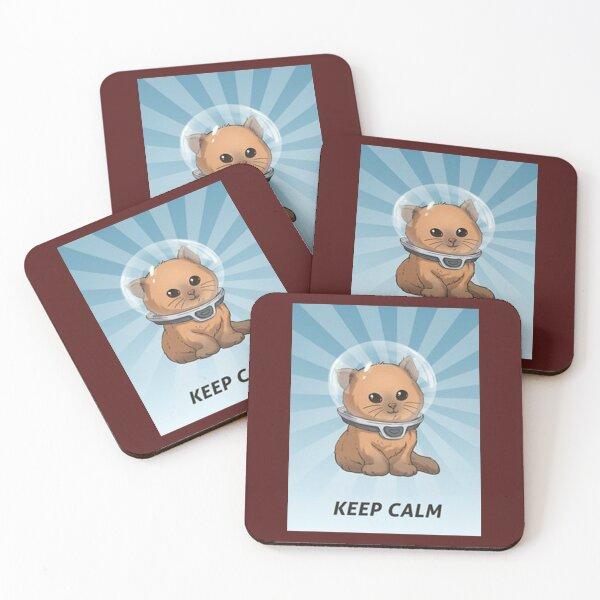 keep calm kitty, keep calm, subnautica, calm, gassik, vvzz Coasters (Set of 4)