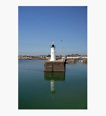 Lighthouse at St Andrews, Scotland Photographic Print