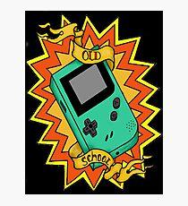 Game Boy Old School Photographic Print