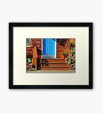 Blue and  Red entrance Framed Print