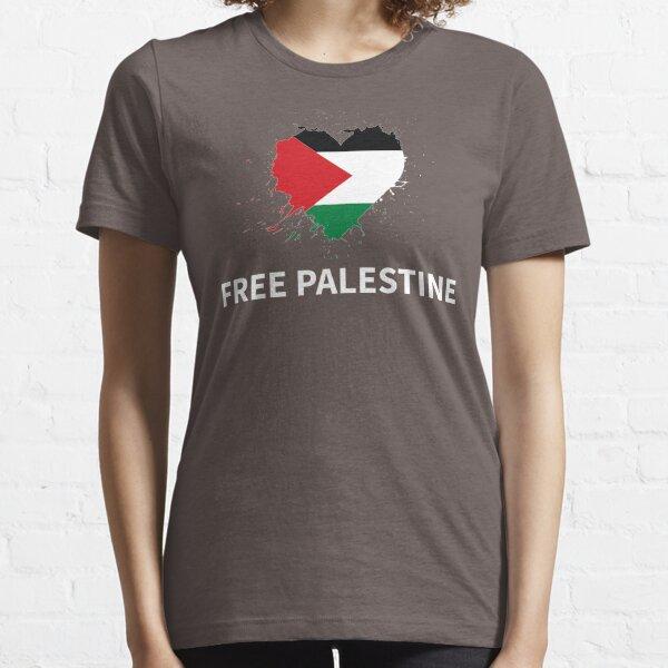Palestine drapeau palestinien libre coeur T-shirt essentiel