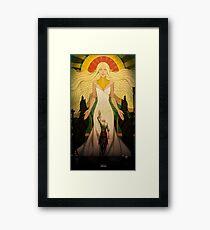 A Goddess of his own Framed Print