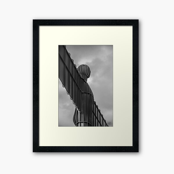 Angels Weathered Wings Black and White Framed Art Print