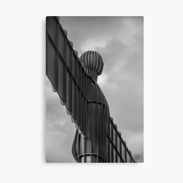 Angels Weathered Wings Black and White Canvas Print
