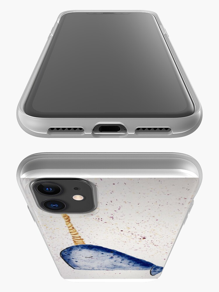 Alternate view of Narwhal Splatter iPhone Case & Cover