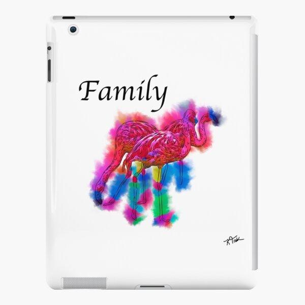 Family - Flamingo Flock In Abstract iPad Snap Case