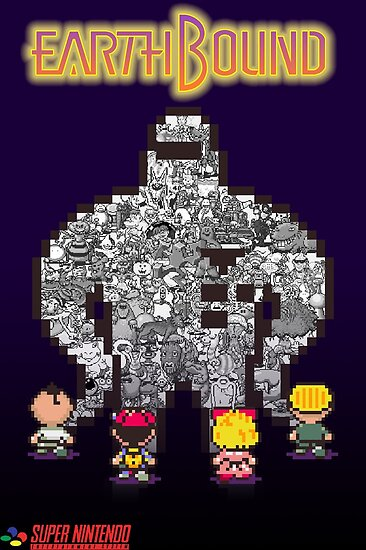 Earthbound Enemies Poster Posters By Rayball36 Redbubble