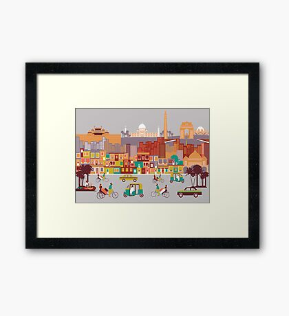 New Delhi, India Framed Print