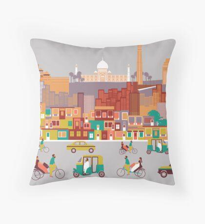 New Delhi, India Throw Pillow