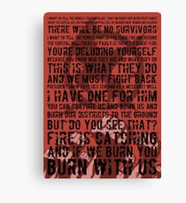 The Hunger Games Typography Canvas Print