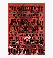 The Hunger Games Typography Photographic Print