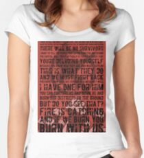 The Hunger Games Typography Women's Fitted Scoop T-Shirt