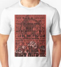 The Hunger Games Typography Unisex T-Shirt