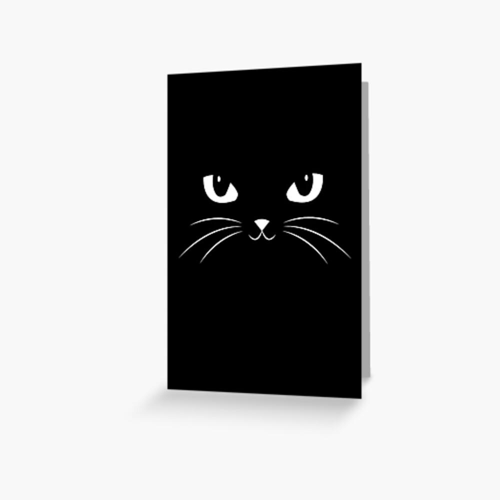Cute Black Cat Greeting Card
