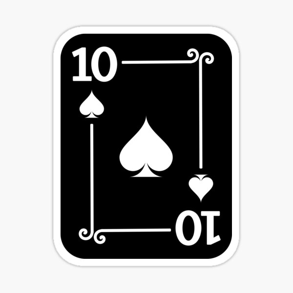 Playing Cards - Matching Spades Card Suits - Ten Card Sticker