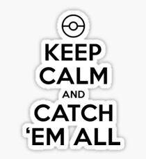 Pokemon Go Trainer Keep calm and catch em all Sticker