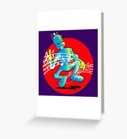 Rockabilly Robot Greeting Card