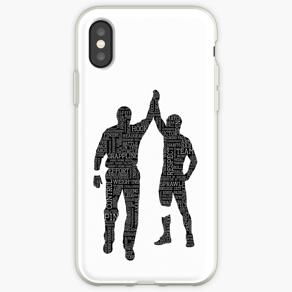 Wrestling Winner Pose White Text | iPhone Case & Cover
