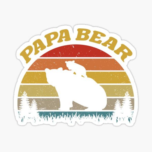 Papa Bear For Bear Lovers Sticker