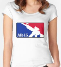 AR15 Red White and Blue Women's Fitted Scoop T-Shirt