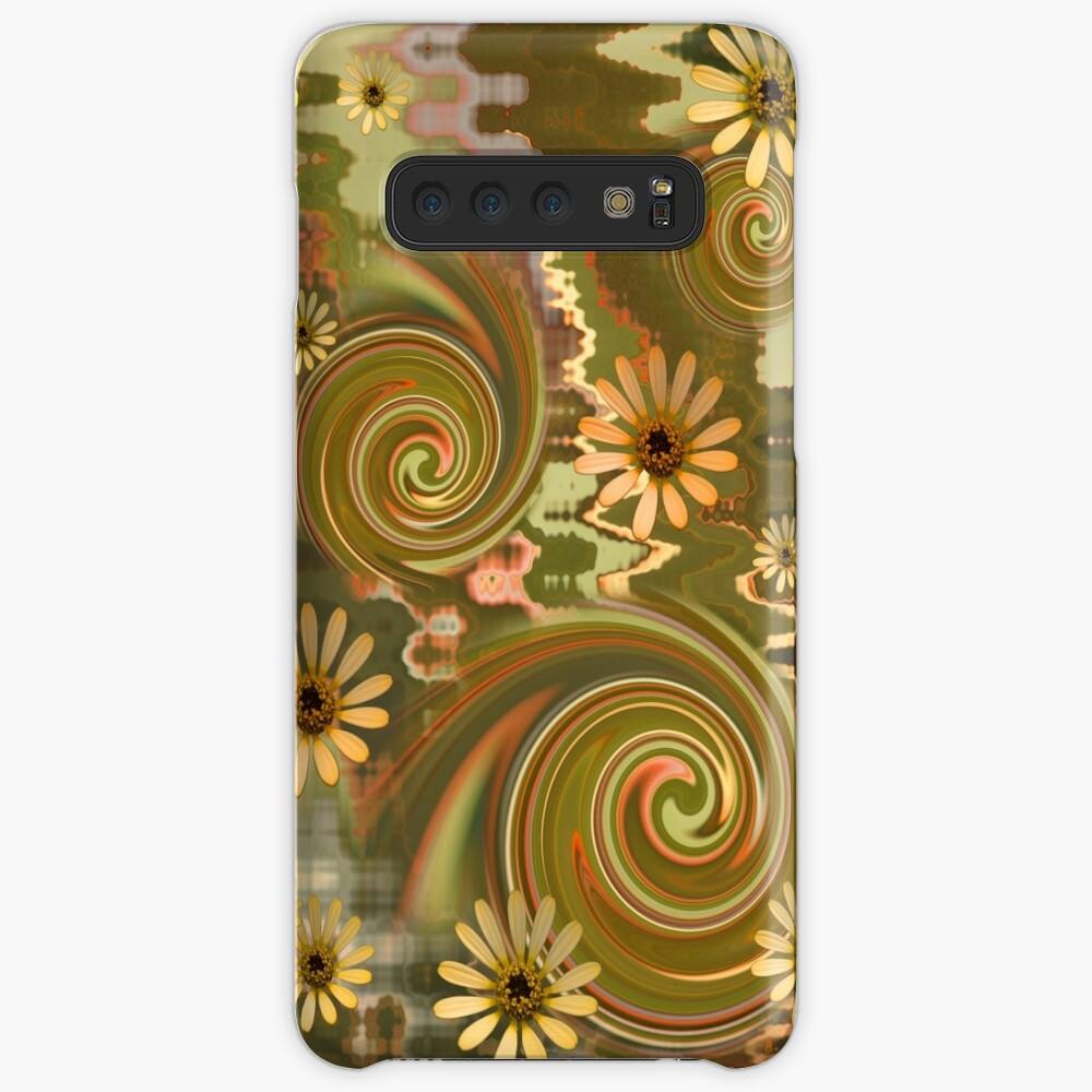 Mellow Yellow Daisys Boho hippie design Case & Skin for Samsung Galaxy