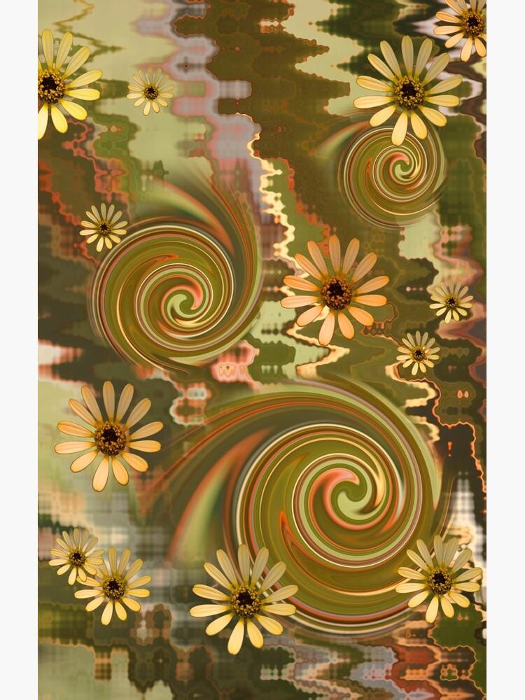 Mellow Yellow Daisys Boho hippie design by yallmia