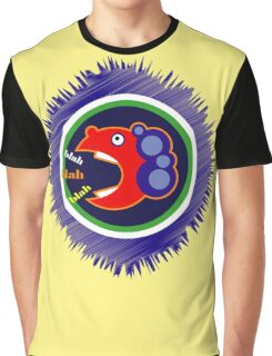 Fun Colourful Blabbermouth Graphic T-Shirt