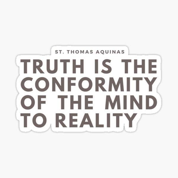 Truth St. Thomas  Sticker