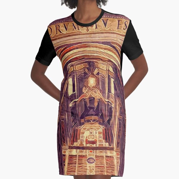 St Peter's Basilica Dome Interior Vatican Italy Graphic T-Shirt Dress