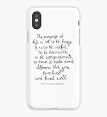 Inspirational Quote - Purpose of Life, Emerson iPhone Case/Skin