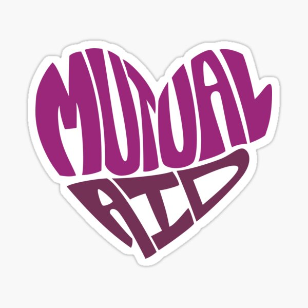 Mutual Aid Heart - Purples Sticker