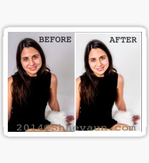 PORTRAIT 1 Before/After Airbrushing Sticker