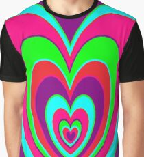 trippy heart Graphic T-Shirt
