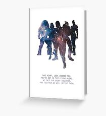 Mass Effect Squad Greeting Card
