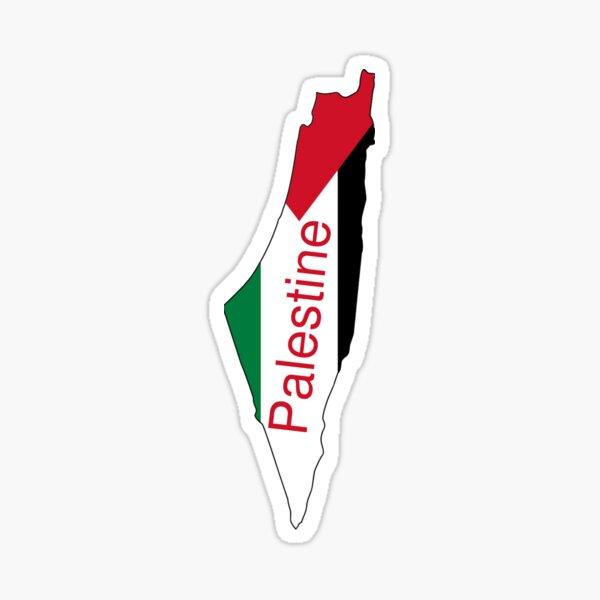 Carte de la Palestine Sticker