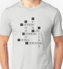 SNSD Crossword T-Shirt