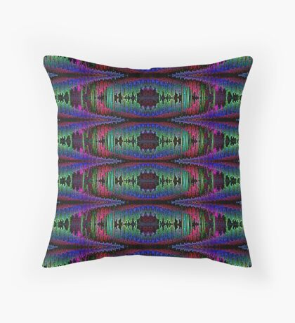 CHRYSALIS-PSYCHEDLIC BUTTERFLY Throw Pillow