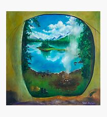 Camping oil painting Photographic Print