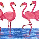 Pink Flamingos by SonalPanse