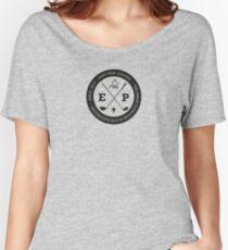 Golfing tshirt - East Peak Apparel - Large Circular Logo Print Women's Relaxed Fit T-Shirt